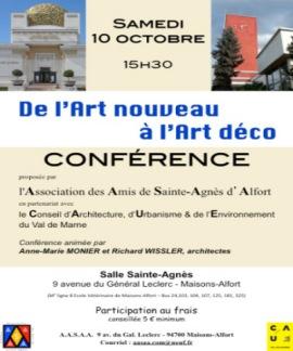 Conférence Art nouveau Art déco 10-10-2015